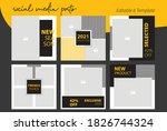 square design for social media...   Shutterstock .eps vector #1826744324