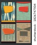 1950s  1960s poster  banner ... | Shutterstock .eps vector #1826747504