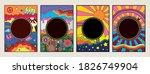 psychedelic art posters ... | Shutterstock .eps vector #1826749904