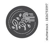 hurricane black glyph icon. a...