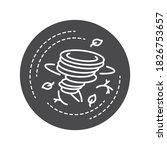 tornado black glyph icon. a...