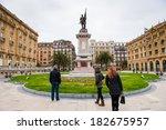 san sebastian  spain   march 18 ... | Shutterstock . vector #182675957