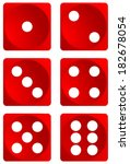 dice for games turned on all... | Shutterstock .eps vector #182678054