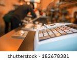 cash machine on a food shop. | Shutterstock . vector #182678381