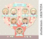 family tree for a girl   Shutterstock .eps vector #182679254