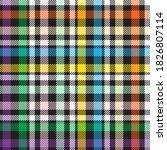 rainbow glen plaid textured... | Shutterstock .eps vector #1826807114