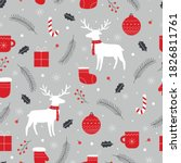 vector pattern seamless...   Shutterstock .eps vector #1826811761