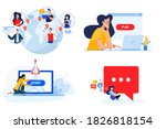 set of people concept... | Shutterstock .eps vector #1826818154