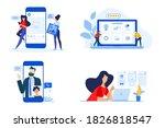 set of people concept... | Shutterstock .eps vector #1826818547