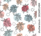 hand draw leaves seamless... | Shutterstock .eps vector #1826851484