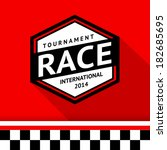 racing badge 07  vector... | Shutterstock .eps vector #182685695