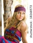 beautiful fashion model portrait | Shutterstock . vector #18268573