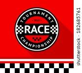 racing badge 14  vector... | Shutterstock .eps vector #182685761