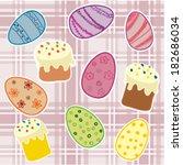 easter background  eggs and... | Shutterstock .eps vector #182686034