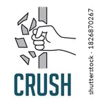 crush concept   fist destroying ...   Shutterstock .eps vector #1826870267