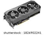 Game graphics card isolated on...