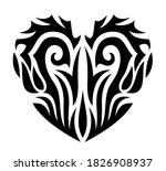 beautiful tribal tattoo... | Shutterstock .eps vector #1826908937