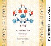vector card. vintage pattern...   Shutterstock .eps vector #182692289