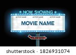 light sign billboard cinema... | Shutterstock .eps vector #1826931074