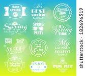 summer labels on the sun... | Shutterstock .eps vector #182696519