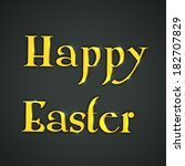happy easter celebrations... | Shutterstock .eps vector #182707829
