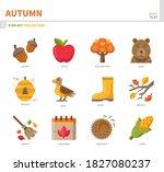 autumn season icon set color... | Shutterstock .eps vector #1827080237