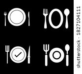 plate  fork and knife icon in...
