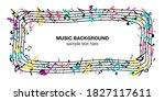 music note music music... | Shutterstock .eps vector #1827117611