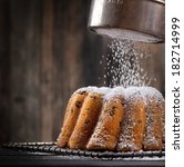 icing sugar falling on a... | Shutterstock . vector #182714999