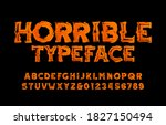 horrible alphabet font. grunge... | Shutterstock .eps vector #1827150494