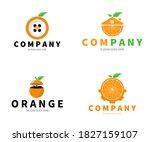 Set Of Orange Fruit Logo....