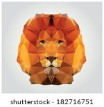 Geometric Polygon Lion Head ...