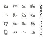 icon set of car. editable... | Shutterstock .eps vector #1827181271