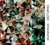 triangular background | Shutterstock . vector #182718461