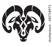 aries zodiac sign. isolated on... | Shutterstock .eps vector #182718971