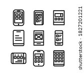 mobile interface icon or logo...