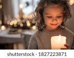 Cheerful Small Girl Indoors At...