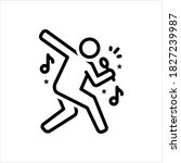 vector line icon for singer   Shutterstock .eps vector #1827239987