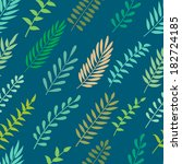 seamless pattern with leaves.... | Shutterstock .eps vector #182724185