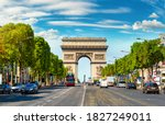 Road of champs elysee leading...