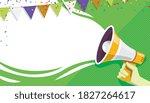 announce banner. welcome ... | Shutterstock .eps vector #1827264617