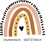 cute illustrated boho rainbow... | Shutterstock .eps vector #1827273614