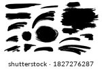 a set of hand painted spots. | Shutterstock .eps vector #1827276287