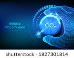 carbon dioxide emissions... | Shutterstock .eps vector #1827301814