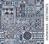 hawaiian style tapa cloth... | Shutterstock .eps vector #1827306671
