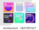 modern promotion square web...   Shutterstock .eps vector #1827307427