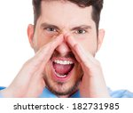 closeup portrait of angry... | Shutterstock . vector #182731985