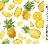 Seamless Pineapple Fruit...