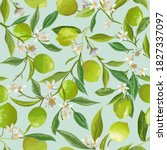 vector lime floral background ... | Shutterstock .eps vector #1827337097