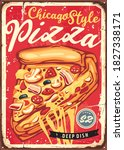 chicago style deep dish pizza... | Shutterstock .eps vector #1827338171